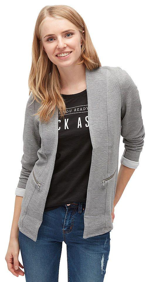 Tom Tailor Denim Sweatblazer »mit Taschen« Jetzt bestellen unter: https://mode.ladendirekt.de/damen/bekleidung/blazer/sweatblazer/?uid=22031a4a-c55d-54ac-8420-804e82b7c720&utm_source=pinterest&utm_medium=pin&utm_campaign=boards #blazer #sweatblazer #bekleidung