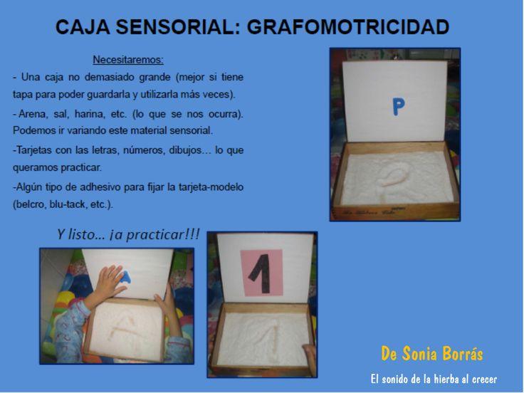 El sonido de la hierba al crecer: Caja sensorial para grafomotricidad