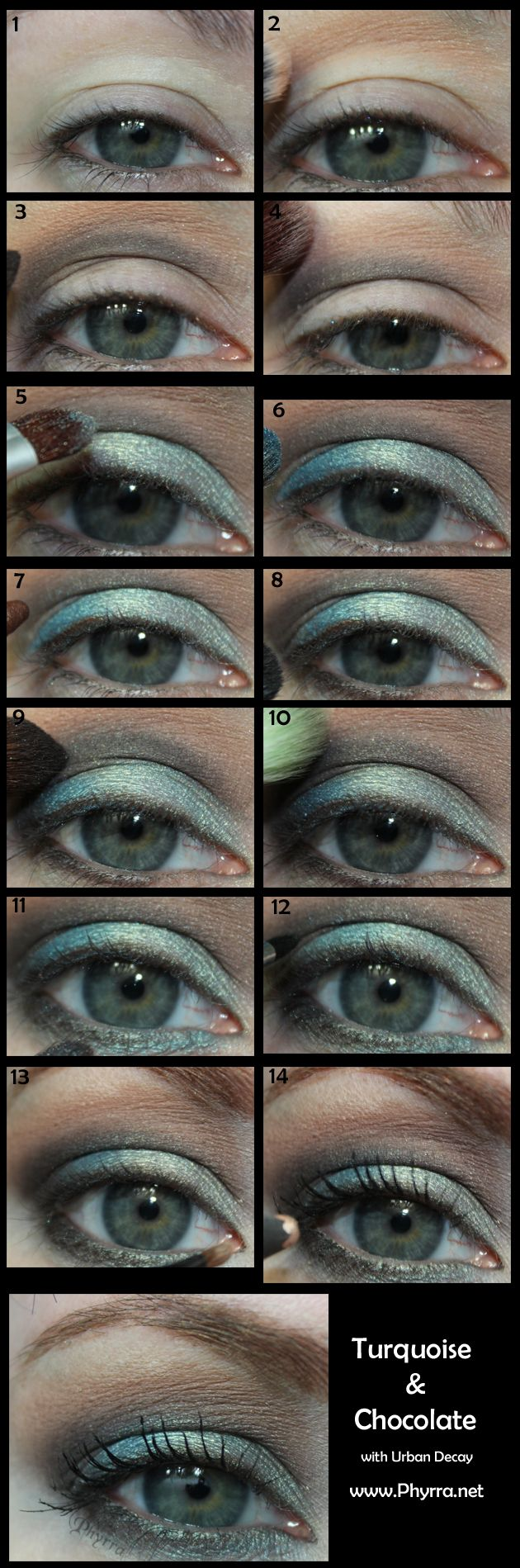 Urban Decay Turquoise and Chocolate Tutorial.  Pin now, play later!
