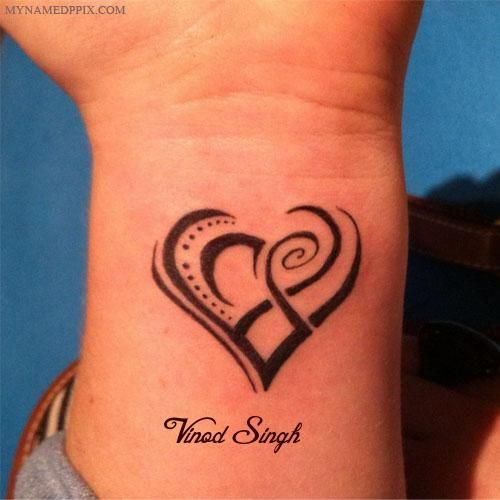 Heart Tattoo In Hand With Name Set Dp Wrist Tattoos For Women Small Tribal Tattoos Heart Tattoo Designs