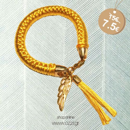 #wings #angel #bracelet #yellow #fashion2014 #summer2014 #gold #jewellery #kosmimata #accessories #ozzi_jewellery