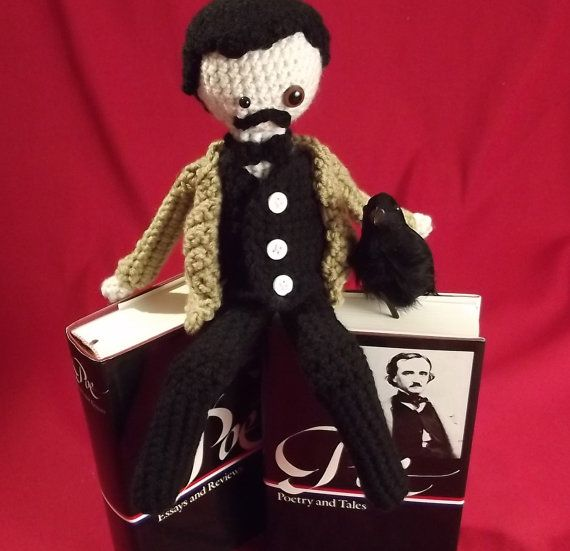 Edgar Allan Poe The Stuffie by WonderAnn on Etsy, $35.00