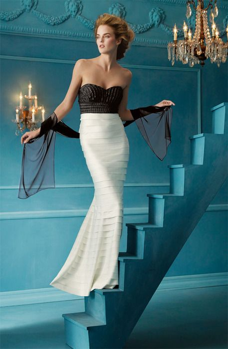 lovely non traditional wedding dress (and great photo!) ~ at Nordstroms, JS Collections $ 268