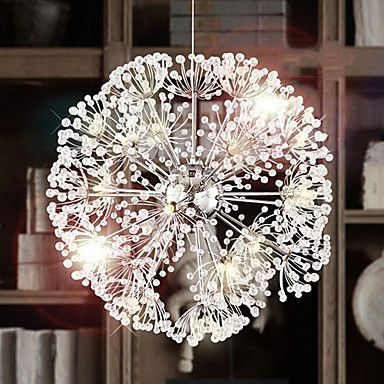 [BlackFridaySale]Crystal Dandelion Pendant 12 Light Modern Design 220V – GBP £ 151.79