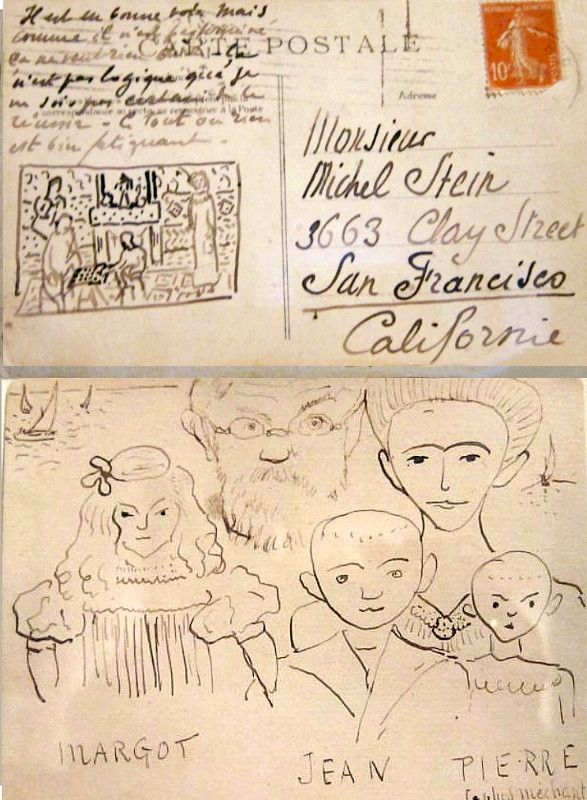 Henri Matisse to Michael Stein (Gertrude's brother) postcard from  The Steins Collect