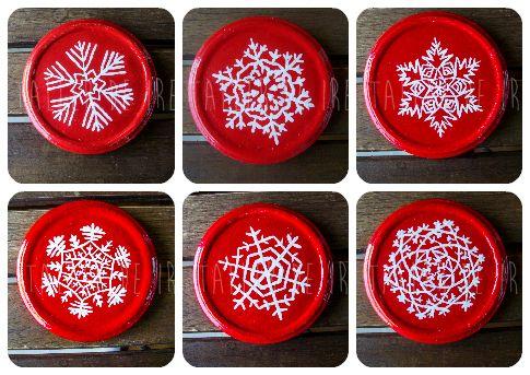 Pack de 6 posavasos navideños von El Taller de Ire auf DaWanda.com