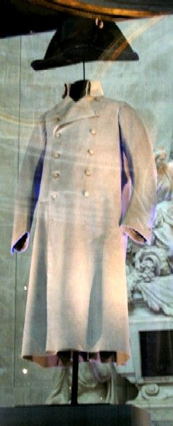 Napoleon's coat and hat in the museum portion of the Les Invalides ...
