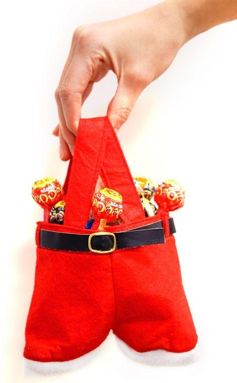 Felt santa pants bag