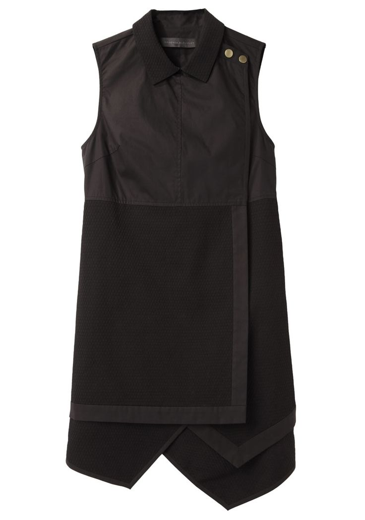 Proenza Schouler / Sleeveless Asymmetrical Shirtdress.  This is so updated and adorable.