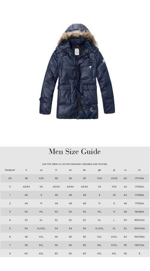 748a5a92b discount men moncler coat sizes conversion d5c1c d15ba