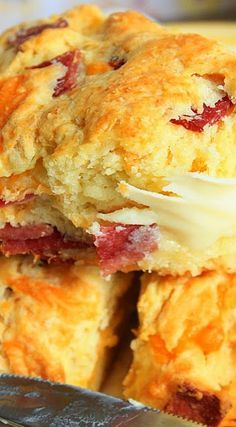 Bacon Cheddar Scones - original recipe had less cheese and bacon but also added onion.