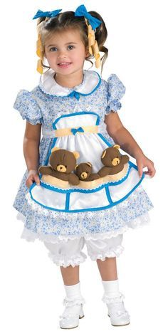 #883643 She'll join the 3 bears this Halloween as Goldilocks. The Goldilocks…