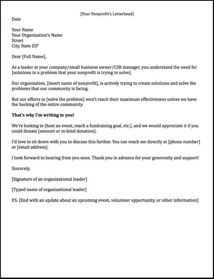 Mer enn 25 bra ideer om Sponsorship letter på Pinterest - example of sponsorship letter