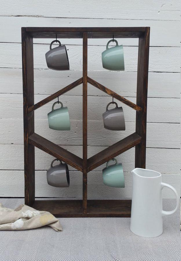 Best 25 Mug Rack Ideas On Pinterest Coffee Hooks Mug
