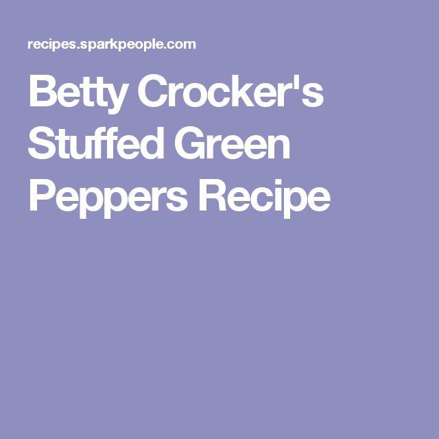 Betty Crocker's Stuffed Green Peppers Recipe