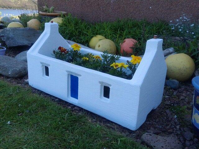 Shetland croft house planter.