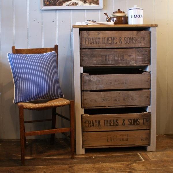 Vintage Fruit Crate Storage Unit - Folksy new-workshop-ideas