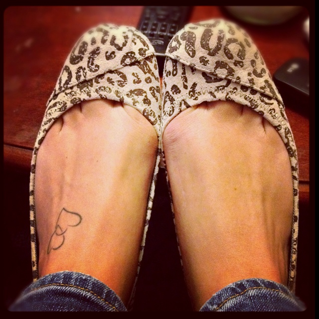 TOM flats?!  so cute....and animal print!