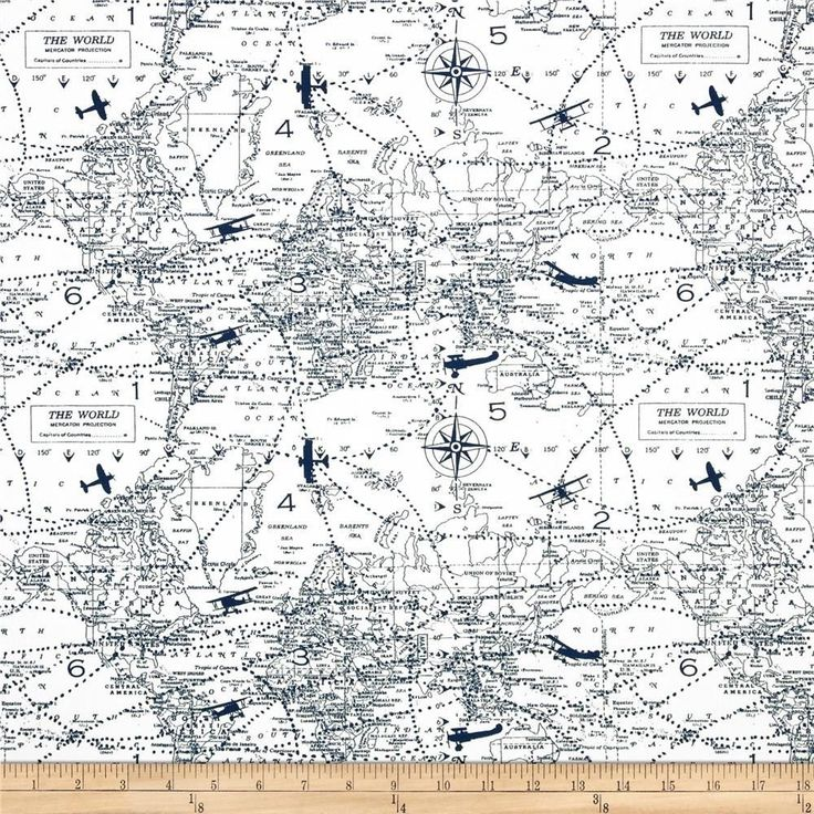 Premier Prints Air Traffic Navy Aviation Airplane Fabric - By the Yard #PremierPrints