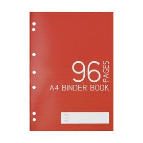 A4 Binder Book - 96 Pages, Red