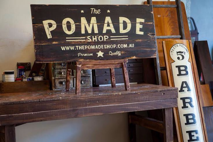 Sign Painted By @tjguzzardi for The Pomade Shop.. Check Him Out!