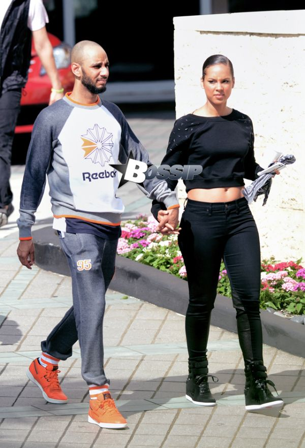 alicia Keyes and swiss | Exclusive – Alicia Keys And Husband Swiss Beatz Show Some PDA, Hold ...