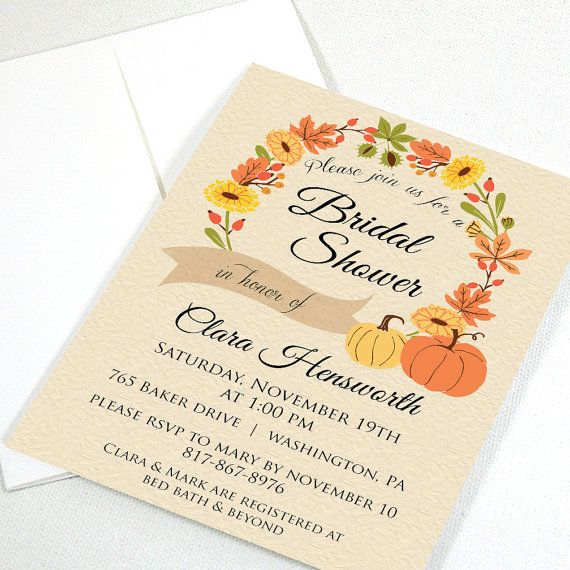 98 best bridal shower invitations images on pinterest bachelorette autumn bridal shower invitation filmwisefo
