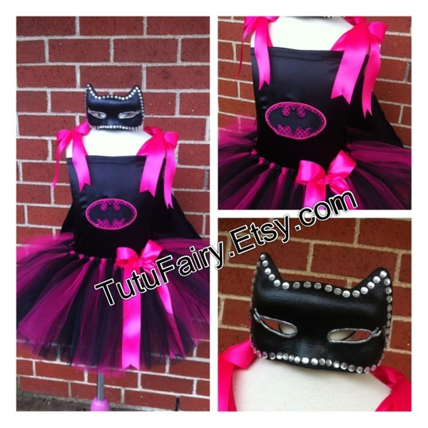 My Creative Way: Batgirl Tutu Costume. Pink  Black Halloween Costume kids