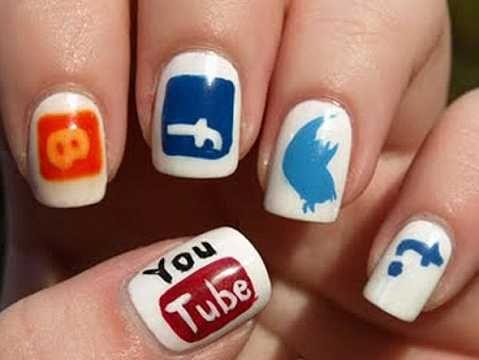 #nail #nailart #nailfreak #socialmedia #funnynail