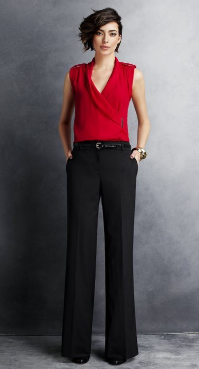 Good outfit - I hate skinny belts, though. And I like the hem of my pants a bit higher.