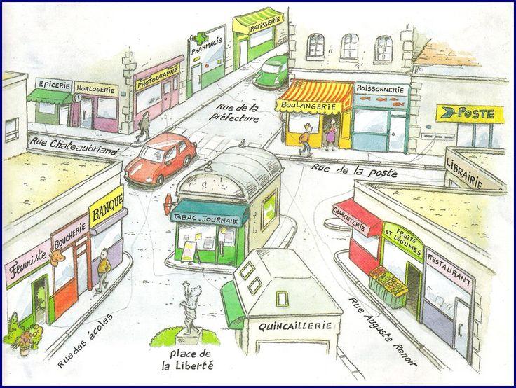 un plan de ville simplifié A1 et +