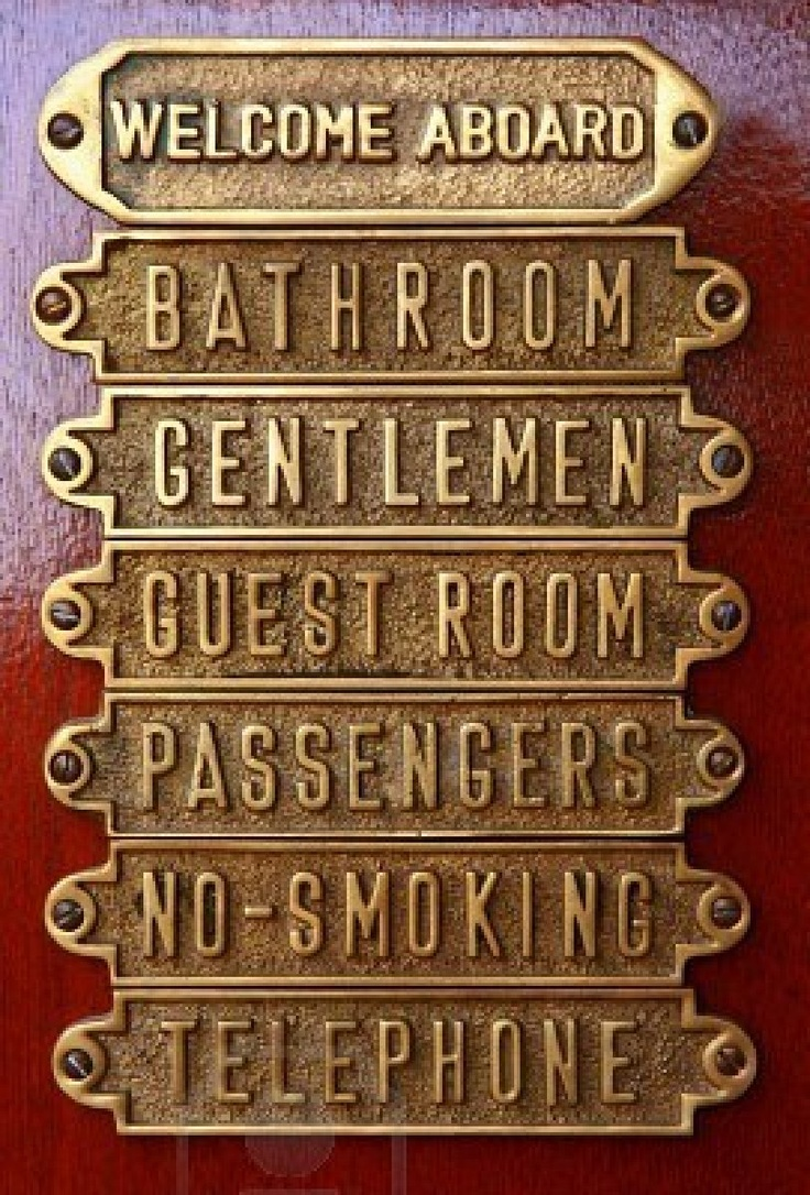 Love Nautical And Other Brass Door Plates