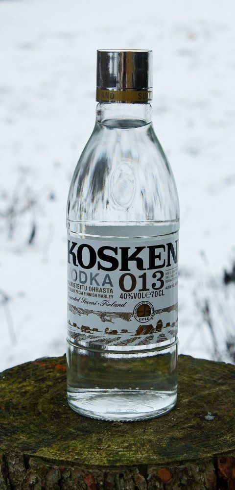 "Koskenkorva vodka, known as ""pocket warmer"" in Finland"