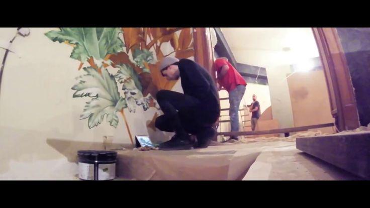 ресторан,антикварная мебель,роспись стен,состаривание стен