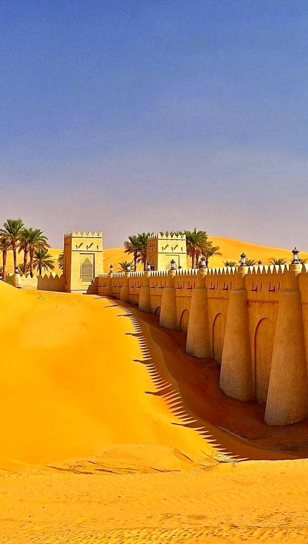 ~...Arabian Walk...~ Liwa Oasis in Rub' al Khali desert, United Arab Emirates #travelnewhorizons