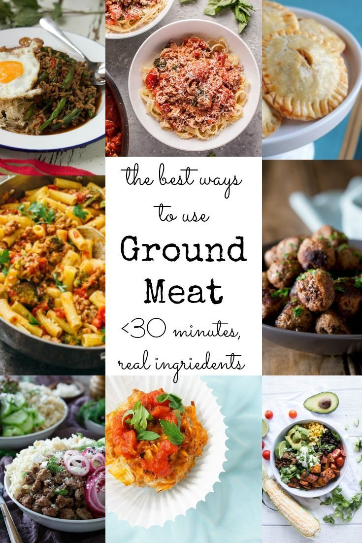 The BEST ways to use ground meat - all recipes under 30 minutes, with real ingredients and totally family friendly!  via @GingeredWhisk