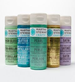 Martha acrylic paints work almost any surface, so you can use them on wood, fabric, glass, plastic, metal, you name it! And they are dishwasher and washing machine safe, too.