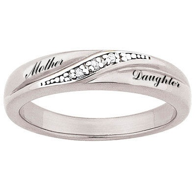 Ladies' Sterling Silver Diamond Accent Couple's Wedding Band (2 Names) http://www.zales.com Cute mother & daughter ring.
