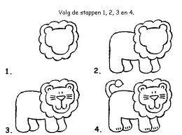 Stappenplan leeuw tekenen