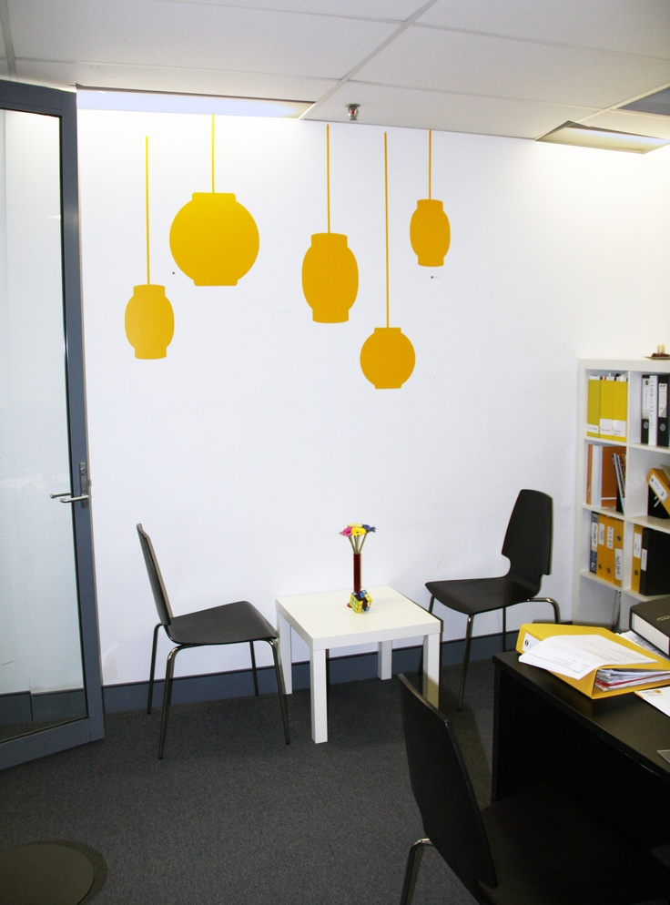 Oriental Lanterns Were Used To Add Some Punch This Office In The Raffles Design College