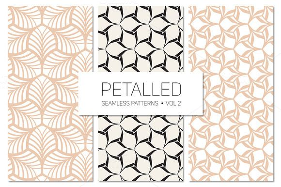 Petalled Seamless Patterns Set 2 by Curly_Pat on Creative Market
