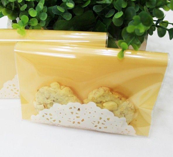 12 шт. желтый с белым кружевом печенья упаковка пластиковые пакеты для упаковки пищевых продуктов 13 * 13 + 4 см 19030009 ( 13 * 13 + 4D12 ) купить на AliExpress