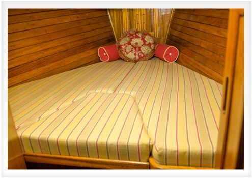 Does your boat's v-berth have cushions that are old, uncomfortable or unsightly? The v-berth cushions on our Islander 37 project boat were all three! So we set to work making new cushions that woul...