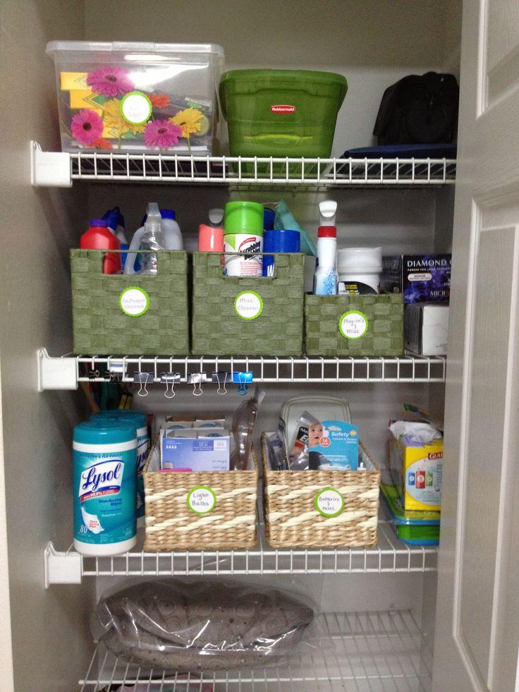 Easy Utility Closet Organization
