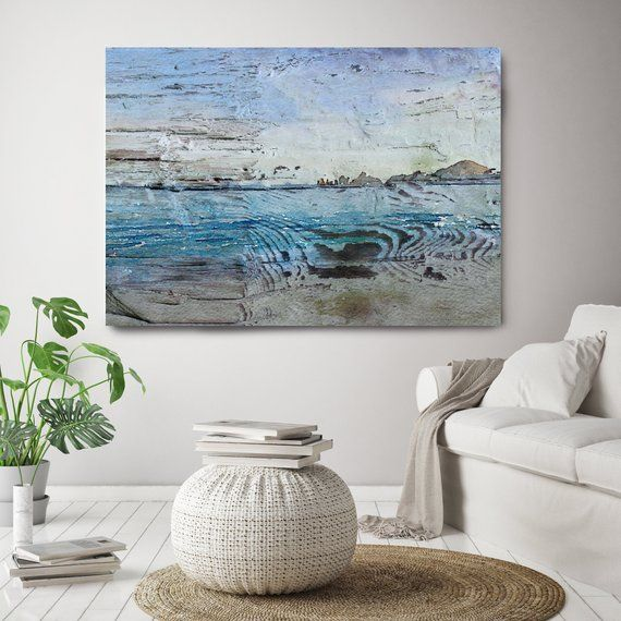 Mixing Fresher Air Vintage Beach Decor Coastal Wall Canvas Art