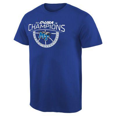 Mid. Tenn. St. Blue Raiders 2016 Conference USA Women's Basketball Conference Champions T-Shirt - Royal