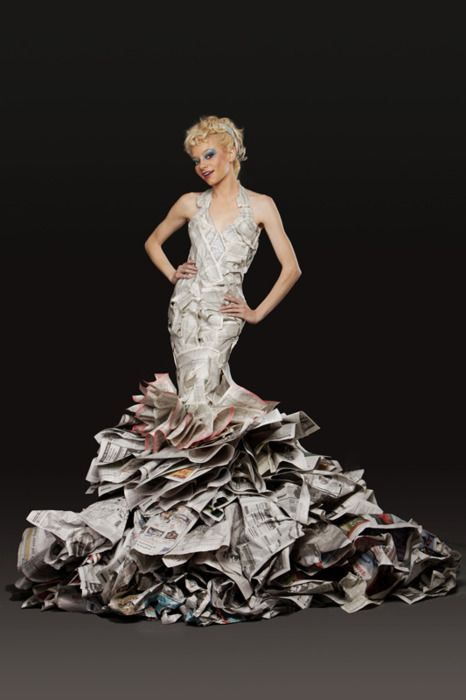 25+ Best Ideas About Newspaper Dress On Pinterest