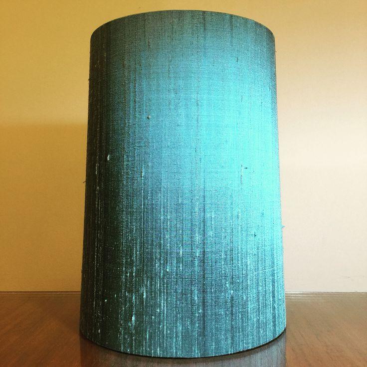 "Custom 9"" x 8"" x 12"" H custom tapered lampshade in @zepelfabrics 'Indulgence silk' in the colour 'Surf'  Their silk range in this series has a colour for everyone. #lampshades #lampshade #customlampshades #lighting #decor #homedecor #design #interiordesign #textiles #handmade #australianmade #custom #silk #zepel #redfern #grahamandgraham"