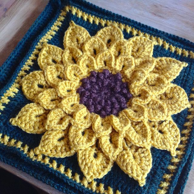 Vintage 70s Yellow Daisy Flower Afghan Throw Blanket Flower: 366 Best Images About Granny Square Projects On Pinterest