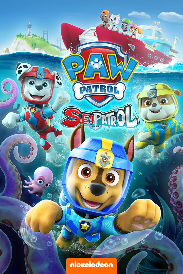 Swim into 5 all new PAW Patrol adventures featuring the double-length mission on the Sea Patrol. When a baby Octopus gets separated from its mother and sinks the Flounder, Sea Patrol needs to save the day. Plus, don't miss it when the pups save a windsurfing pig, the diving bell, floating friends and more!